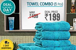 60% Discount on Towel Combo – 5 Pcs at Rs. 199 Only