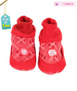 Isabelle Vibrant Red Infant Booties Pack of 2 For Kids