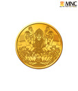 MNC 10 Gm 24kt Hallmarked Goddess Laxmi Gold Coin With 999 Fineness