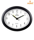 Horo Black Oval Table Clock