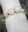 Erato Traditional Kada Look CZ Bracelet