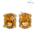 Johareez Oval Shape Genuine Citrine Studs