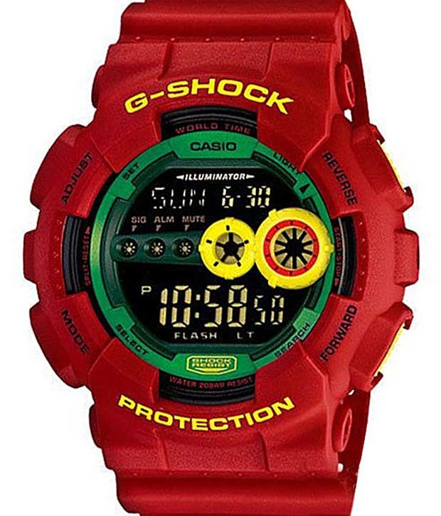 Casio Big Face Red G-Shock Watch