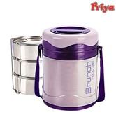 Priya Brunch Violet Tiffin Box With 3 Containers
