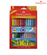 Faber Castell Erasable Grip Crayons (90mm) (2 packs - 24 each)