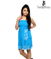 Fashionista Fabulous Turquoise Tube Dress