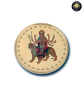 Aarya24kt Durga Maa Gold plated coin AR-CN-018