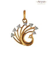 Avsar Enticing Gold & Diamond Pendant
