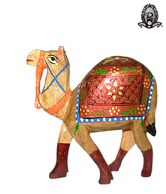 Ratoomal's Wooden Painted Camel