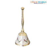 Dekor World Exquisite Brass Puja Bell