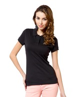 Harpa Black Polo T-Shirt