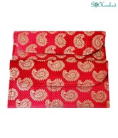 Go Hooked Deep Pink Brocade Envelope Set-2 pcs