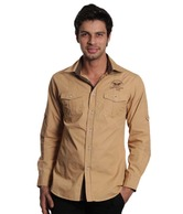 Jogur Khaki Full Sleeves Men's Shirt