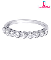 Lucera Precious CZ Studded Silver Ring