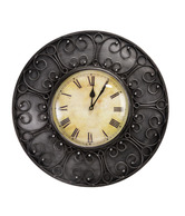 Live n Style Antique Iron & Glass Wall Clock
