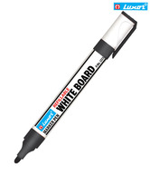 Luxor Black Refillabel White Board Marker Pen (Set Of 10 Pcs)