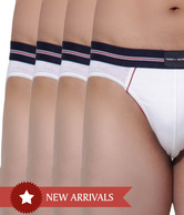 Tommy Hilfiger White Piping Brief Pack of 4