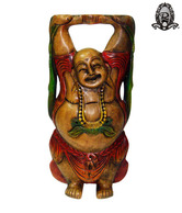 Ratoomal's Multi-Coloured Laughing Buddha Showpiece