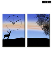 Design 'O' Vista Deer Wall Clock