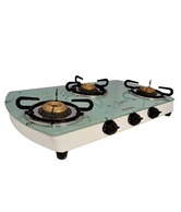 Jindal Marble Three Burner White 3 Burner