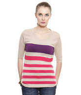 United Colors of Benetton Multi-Coloured Viscose Top