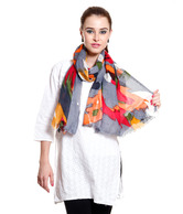 Sage Multicolour Abstract Stole