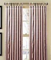 Dekor World Smart Stripes Loop Curtain