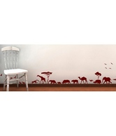 WallDesign Animals Parade Brown Wall Stickers 1