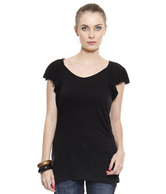 United Colors of Benetton Black Viscose Top