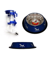 Dogstory Blue Bowl & Feeder Combo