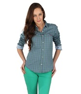 American Swan Green Cotton Jeans