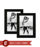 AEC Stylish Single Picture Wooden Frame Brown - Buy 1 Get 1 Free