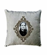Ultra Snob Light Grey Cushion Cover With Picture Frame