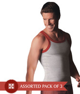 Jockey Assorted Pack of 3 Vests