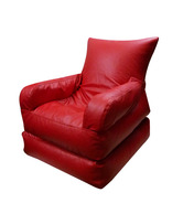 Biggie Foldable Bean Bag Lounger - Red