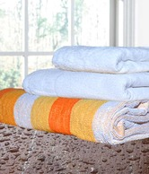 Handloomwala Set Of 3 Towels - Yellow & White