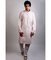 Flying Colors Pink-Grey Long Kurta
