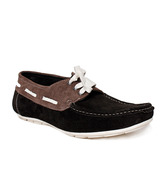 I-Shoes Black & Brown Boat Shoes