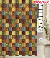 Freelance Checkered Multi-coloured Shower Curtain