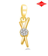 Sparkles Sleek Diamond & Gold Pendant