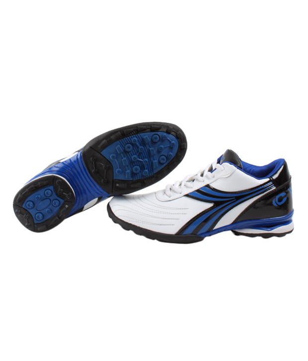 Cyke Vibrant White & Royal Blue Sport Shoes
