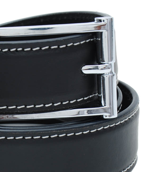 WalletsnBags Stylish Black Casual Belt
