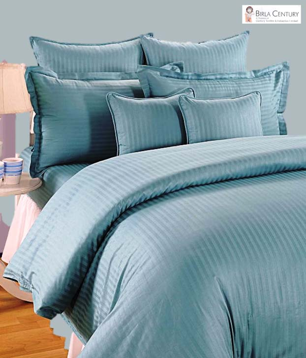 Birla Century Teal Green Bed Sheet Set