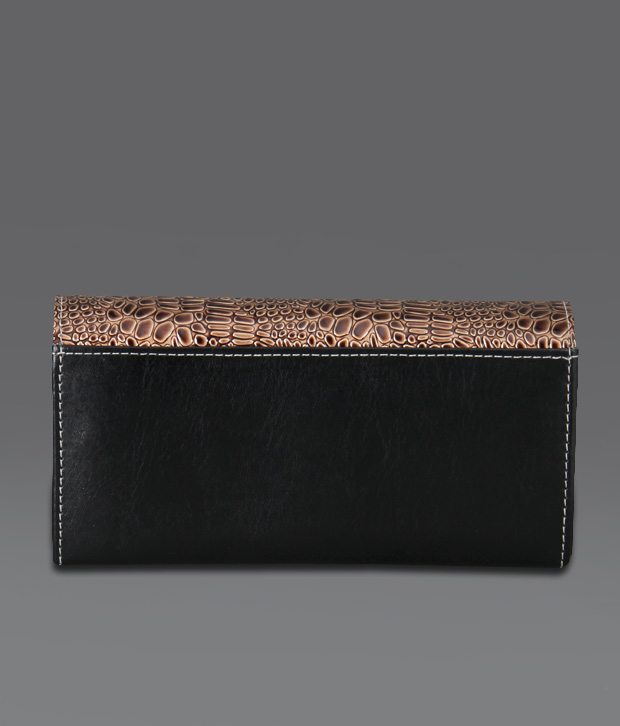Borse Brown & Black Snake Print Wallet