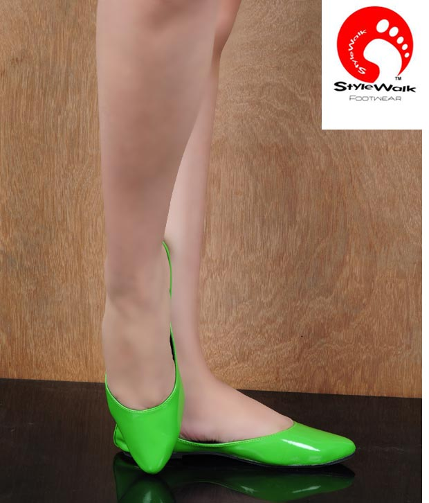 Stylewalk Green Modish Ballerinas