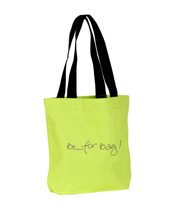 Be For Bag! Gorgeous Green Barcode Print Handbag