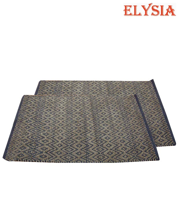 Elysia Cotton Light Brown Door Mat
