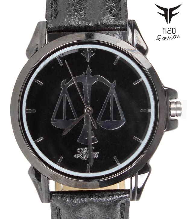 FIGO Black Charmer Libra Watch