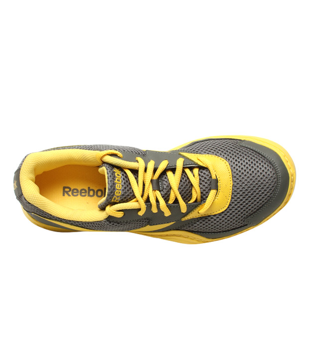 Reebok Field Effect Grey & Yellow Sports Shoes
