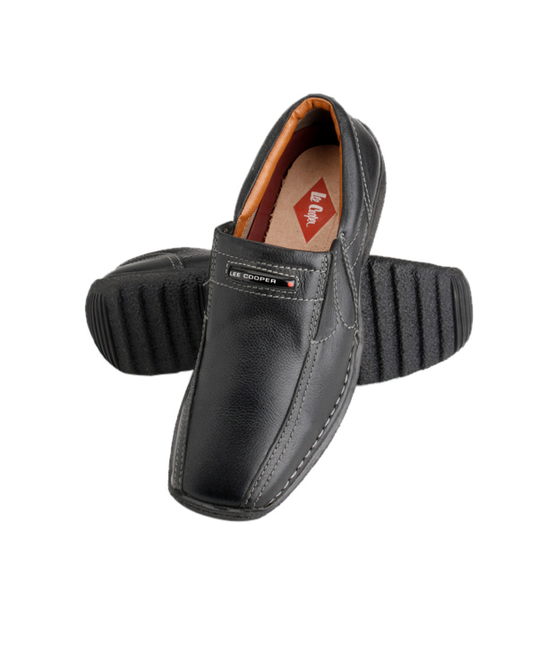 Lee Cooper Classy Black Slip-on Shoes